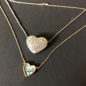 Two heart necklaces bundle
